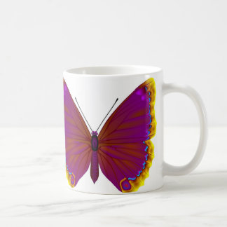 Tropical butterfly classic white coffee mug