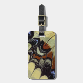 Tropical butterfly close-up luggage tag