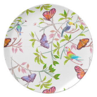 Tropical Butterfly Plate