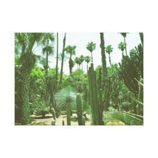 Tropical Cacti Gardens Wrapped Canvas