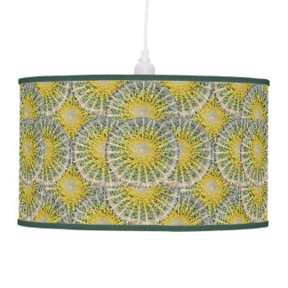 Tropical Cactus Photo Botanical Pattern Pendant Lamp