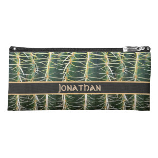 Tropical Cactus Photo Custom Name Pencil Case