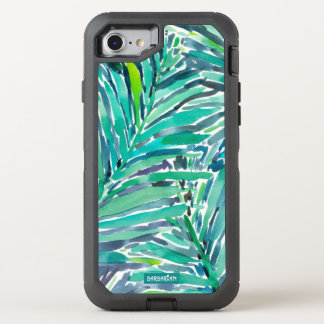Tropical Canopy Palm Jungle Watercolor Print OtterBox Defender iPhone 7 Case