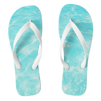 Tropical Caribbean Beach Flip Flops