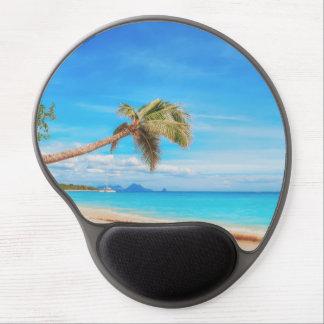 Tropical Caribbean beach Gel Mouse Pad