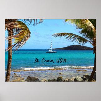 Tropical Caribbean Poster