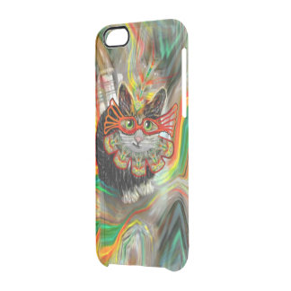 Tropical Carnival Cat Clear iPhone 6/6S Case
