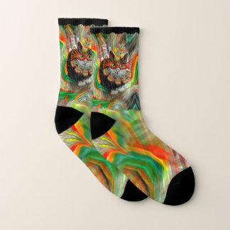 Tropical Carnival Cat Socks
