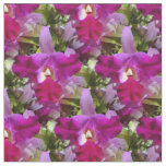 Tropical Cattleya Orchid Flower Fabric