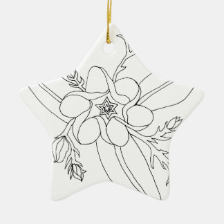 Tropical Ceramic Ornament