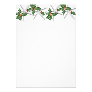 Tropical Christmas Blank White Starfish Paper Custom Invitation