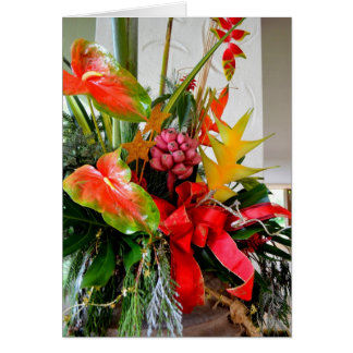 Tropical Christmas Bouquet Card