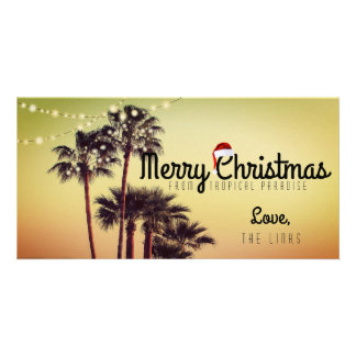 Tropical Christmas Holiday Card Photo Cards