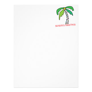 Tropical Christmas Letterhead
