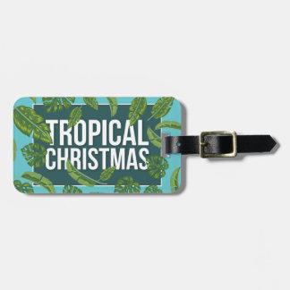 Tropical Christmas Luggage Tag