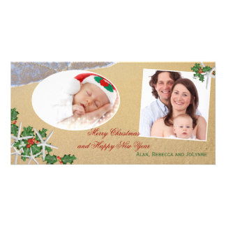 Tropical Christmas Multi-Photo Family Card Picture Card