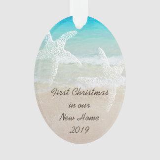 Tropical Christmas New Home Coastal Theme Ornament