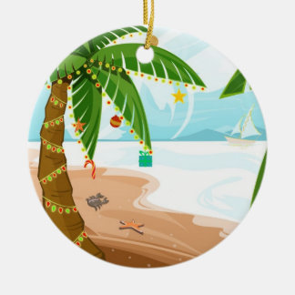 Tropical Christmas Ornament