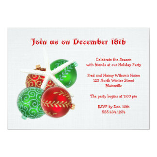 Tropical Christmas Party Invitation With Starfish