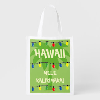 Tropical Christmas shopping bag Mele Kalikimaka