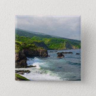 Tropical Cliffs in Maui Hawaii 2 Inch Square Button