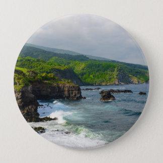 Tropical Cliffs in Maui Hawaii 4 Inch Round Button