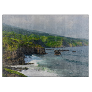 Tropical Cliffs in Maui Hawaii Cutting Board