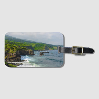 Tropical Cliffs in Maui Hawaii Luggage Tag