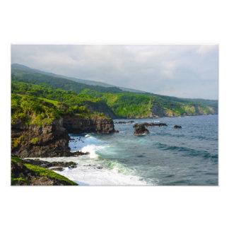 Tropical Cliffs in Maui Hawaii Photo Print