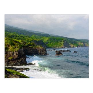 Tropical Cliffs in Maui Hawaii Postcard