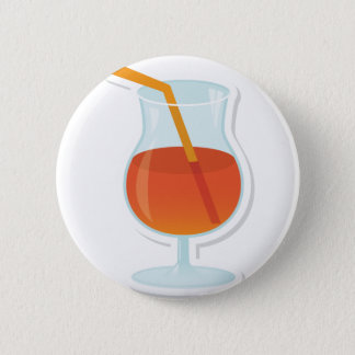 tropical Cocktail 2 Inch Round Button