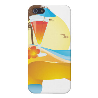 Tropical cocktail and wave cover for iPhone 5/5S