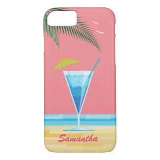 Tropical Cocktail & Coral Sky iPhone 7 Case