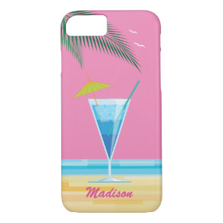 Tropical Cocktail & Pink Sky iPhone 7 Case