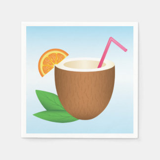 Tropical Coconut Drink Disposable Napkins
