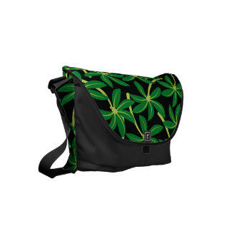 Tropical coconut palm tree courier bags