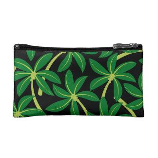 Tropical coconut palm tree makeup bag