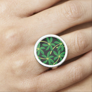 Tropical coconut palm tree photo ring