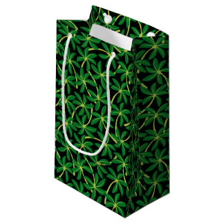 Tropical coconut palm tree small gift bag