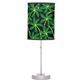 Tropical coconut palm tree table lamp