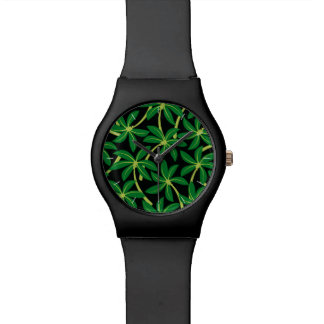 Tropical coconut palm tree wrist watch
