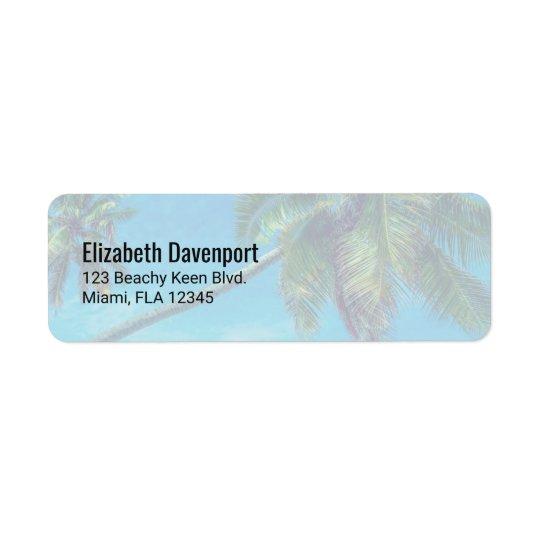 Tropical Coconut  Palm Trees Return Address Label
