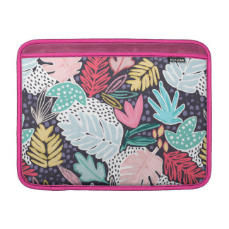 Tropical Collage Colourful Pattern MacBook Sleeve