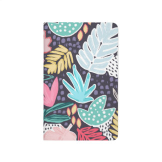 Tropical Collage Colourful Pattern Pocket Journal