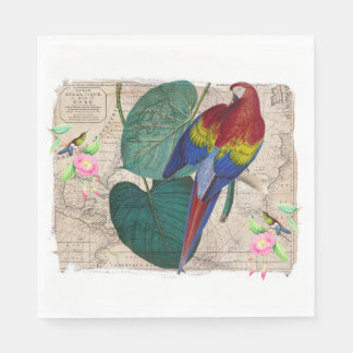 Tropical Collage Paper Napkin