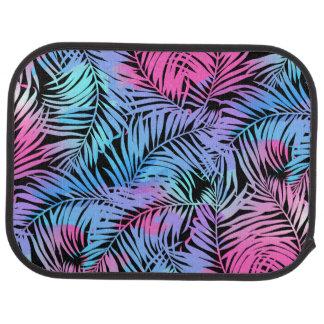 Tropical colored palms car mat