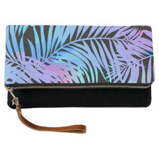 Tropical colored palms clutch