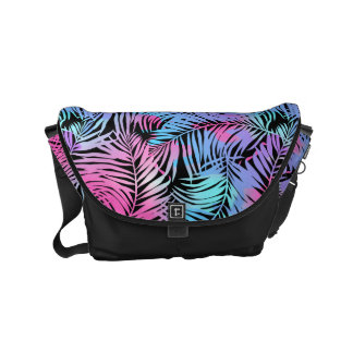 Tropical colored palms commuter bag