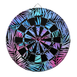 Tropical colored palms dartboard