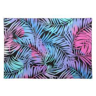 Tropical colored palms placemat
